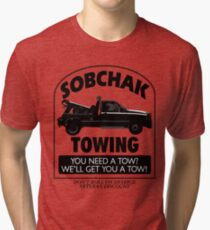 The Big Lebowski Inspired - Sobchak Towing - You Want a Toe? Tri-blend T-Shirt