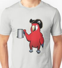 Red Pirate Parrot with a tankard T-Shirt
