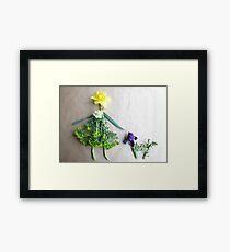 Daffodil with her scottie dog, Iris Framed Print