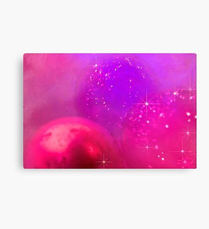Holiday baubles in pink Canvas Print