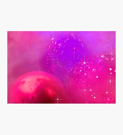 Holiday baubles in pink Photographic Print
