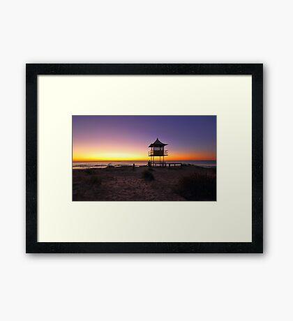 The Entrance Beach Sunrise Framed Print