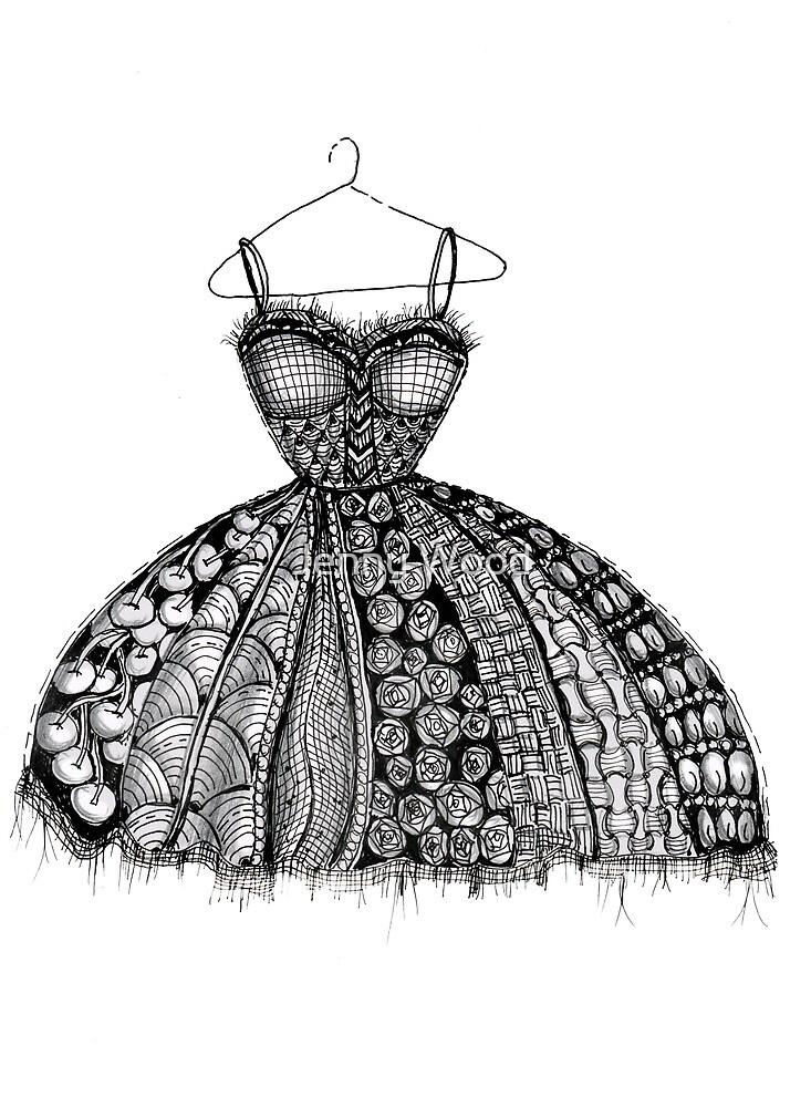 The dress by Jenny Wood