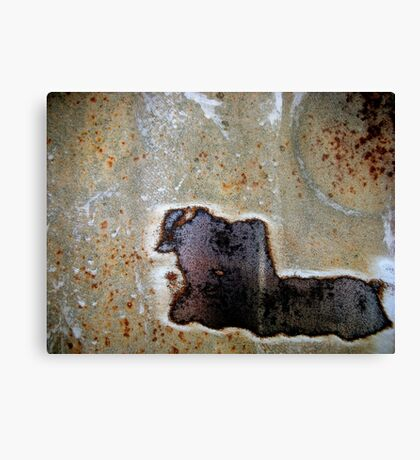 Charging Bull In Full Speed Canvas Print