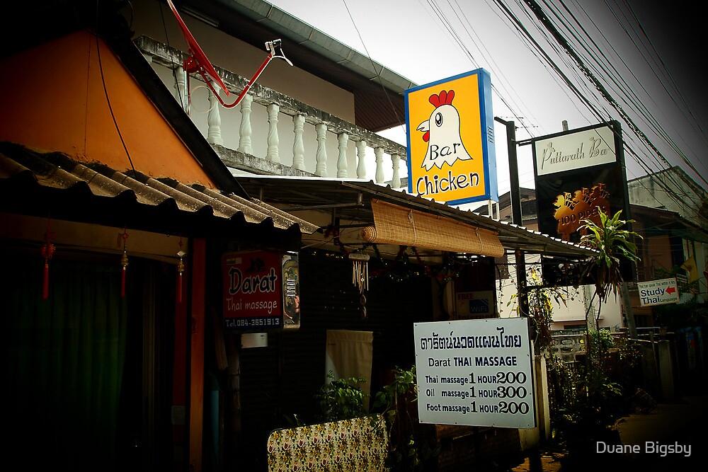 The Chicken Bar, Chiang Rai, Thailand by Duane Bigsby
