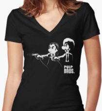 Pulp Bros. Women's Fitted V-Neck T-Shirt