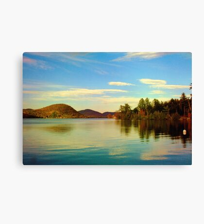 Late Afternoon at the Lake Canvas Print