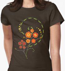 Summer Swirls Women's Fitted T-Shirt