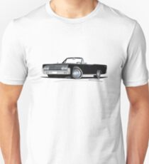 Lincoln Continental Convertible (1963) Black Slim Fit T-Shirt