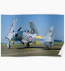 Hawker Sea Fury T.20 WG655/910-GN Poster