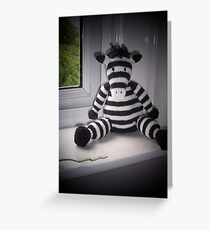 Knitted Zebra Greeting Card