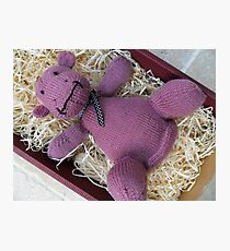 Knitted Pink Hippo Calf Photographic Print