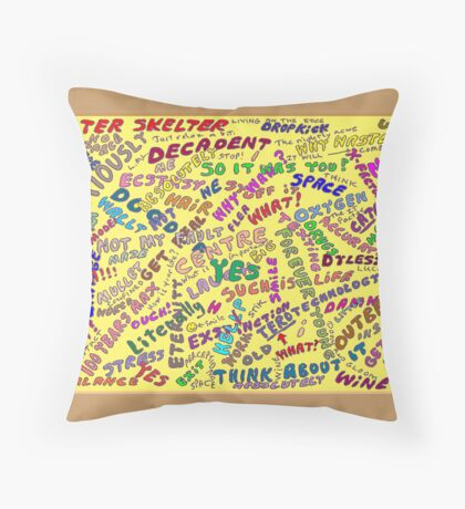 May I Have a Word? Throw Pillow