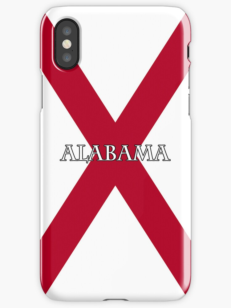 Smartphone Case - State Flag of Alabama  - Horizontal Named by Mark Podger