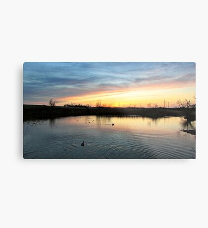 Twilight at the Quarry Metal Print