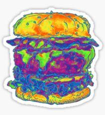 Neon Bacon Cheeseburger Sticker