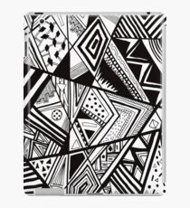 Black Aztec Sharpie Pattern iPad Case/Skin
