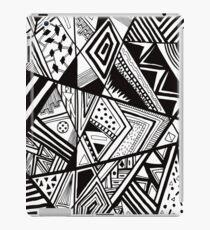 Black Aztec Sharpie Pattern iPad Case/Skin