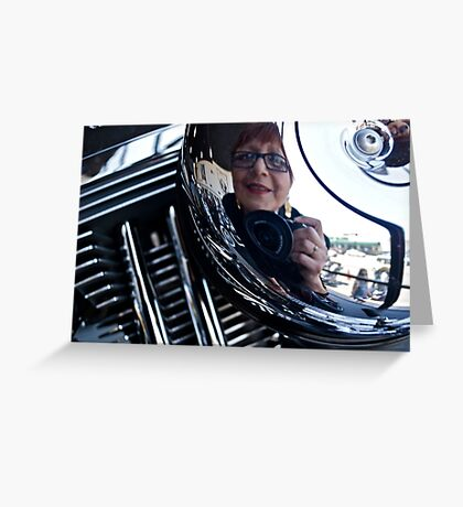 Reflections on a Harley Davidson Greeting Card