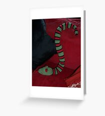 Knitted Snake Greeting Card