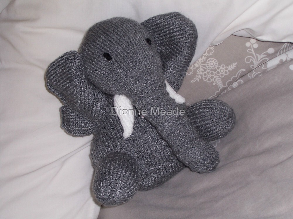 Knitted Elephant by Dionne Meade