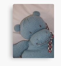 Knitted Hippo Canvas Print