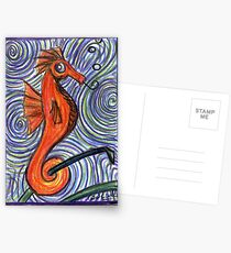 Seahorse and Swirls Postcards
