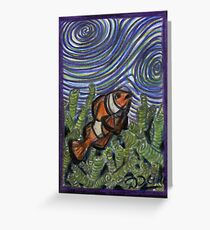 Clownfish and Swirls Greeting Card