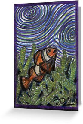 Clownfish and Swirls by David Webb