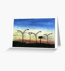 Sunset Over I-85 Greeting Card