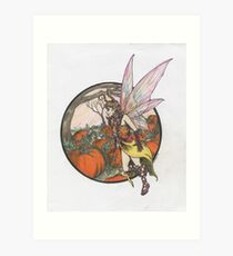Aefwine - Autumn Harvest Fairy Art Print