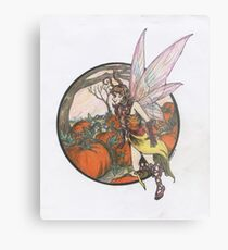 Aefwine - Autumn Harvest Fairy Metal Print