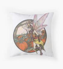 Aefwine - Autumn Harvest Fairy Throw Pillow