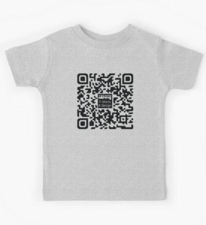 QR Code Technohippy Logo Kids Clothes