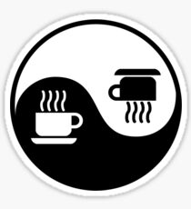 Ying and Yang of Coffee Sticker
