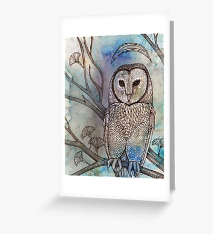 Crescent Crowned and White of Feather Greeting Card