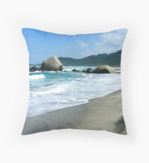 Tayrona Beach Throw Pillow