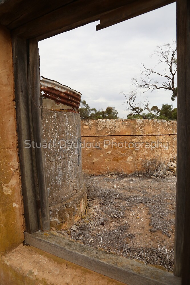 Through The Window of Monarto Ruins by Stuart Daddow Photography