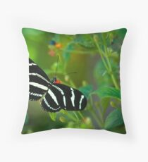 A Zebra Longwing Butterfly  Throw Pillow