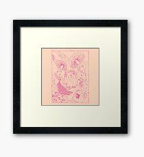 Hamster In Wonderland Pink Version Framed Print