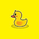 Cute Duck Swimming Cartoon by thejoyker1986