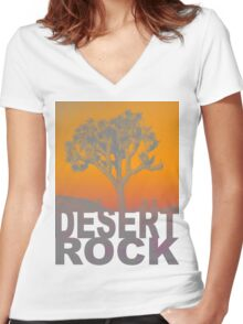Desert rock Women's Fitted V-Neck T-Shirt