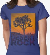 Desert rock Women's Fitted T-Shirt