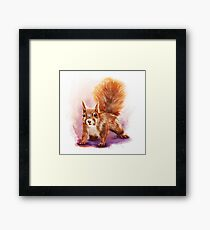 Squirrel  - Digital Painting by Tom Lopez Framed Print