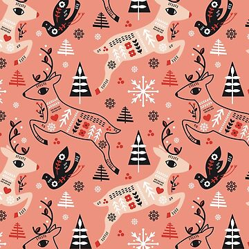 Holiday Folk in Pink Peppermint  by limegreenpalace