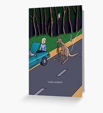 Kangaroo Jump-start Greeting Card