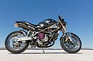 Ducati Monster on the salt 3 by Frank Kletschkus