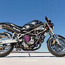 Ducati Monster on the salt 3 by Frank Kletschkus