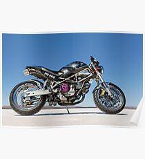 Ducati Monster on the salt 3 Poster