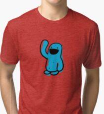 Sketchy blue Happyman Tri-blend T-Shirt